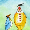clownrabe-und-pinguin
