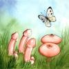 Erotische Gruppe mit Schmetterling